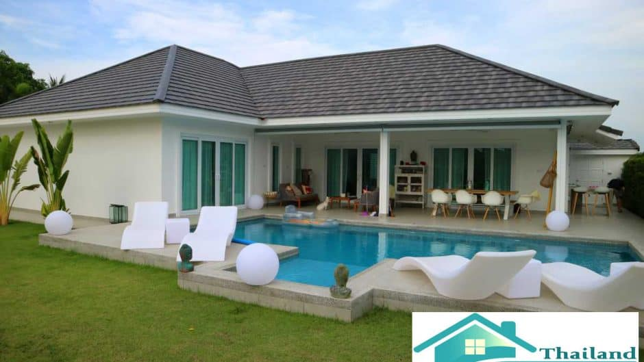 Khao Tao 4 Bed Modern Pool Villa For Sale in Pranburi Area