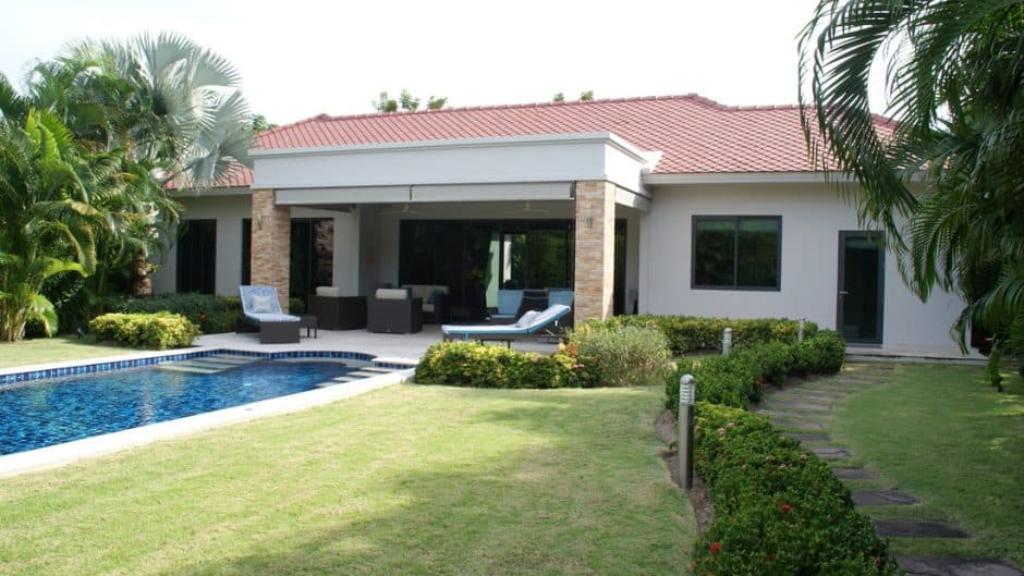 Hua Hin Modern Park Villa For Sale Baan Ing Phu Private Estate